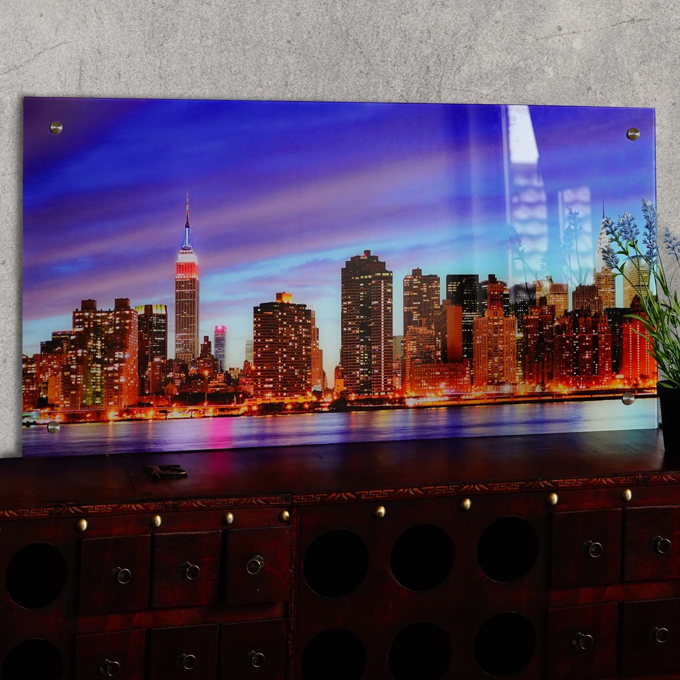 Quelles sont les dimensions possibles pour un tableau de New-York?